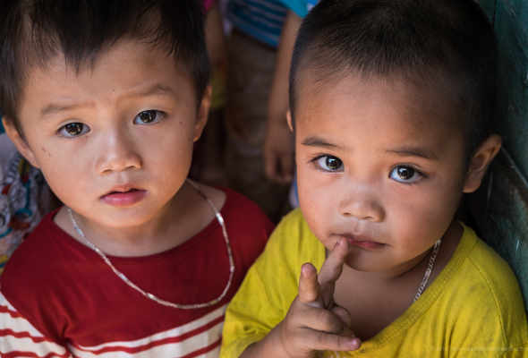 Portrait of vietnamese kids